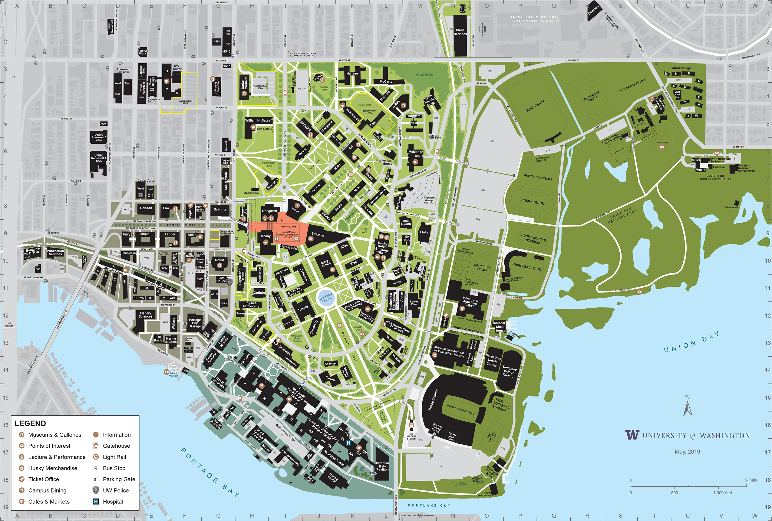Campus Map Uw | Smeka